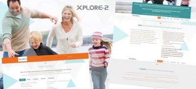 Xplore2Trial Single Page Website Design