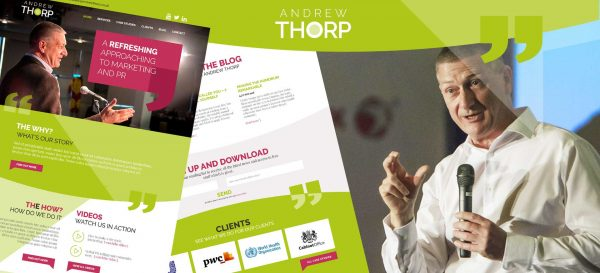 Andrew Thorp - Bollington website design