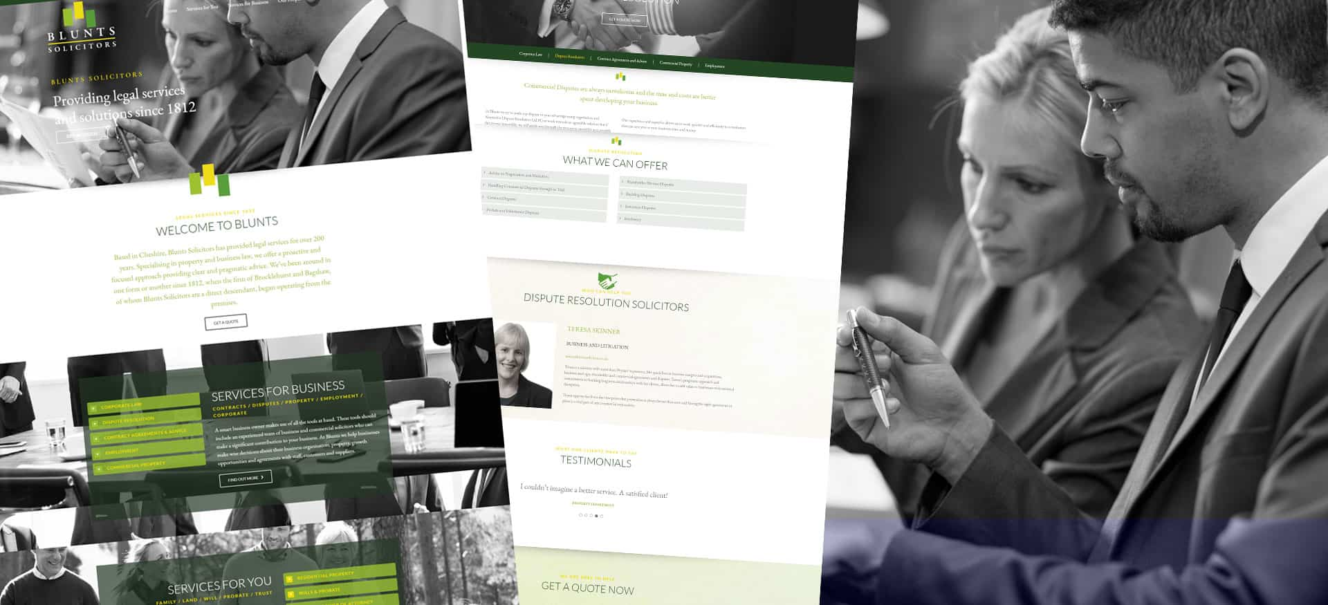 Web Design Blunts Solicitors Macclesfield