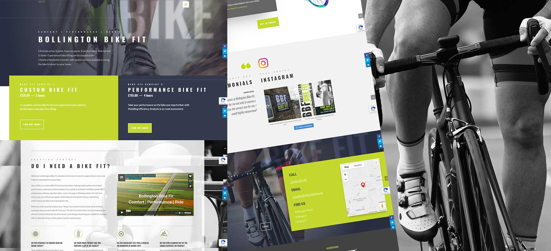 Bollington Bike Fit Online Booking Website by PepperStreet Web Design