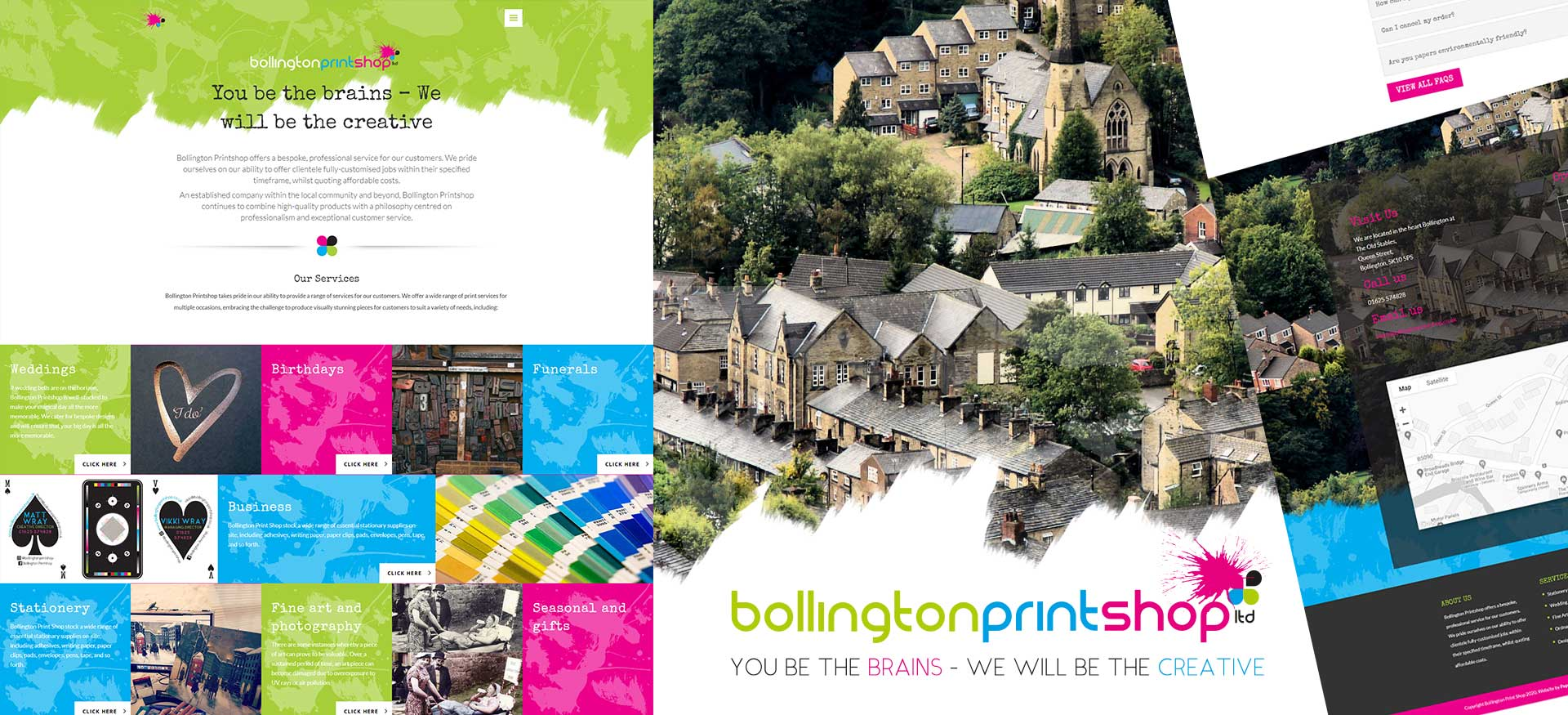 Responsive Wordpress Website The Bollington Printshop Macclesfield Cheshire
